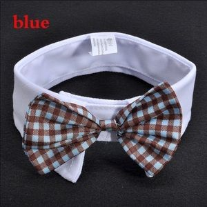 Blue Small dog/cat Tie bow tie Collar for your pet